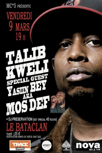 Talib Kweli et Mos Def - Bataclan