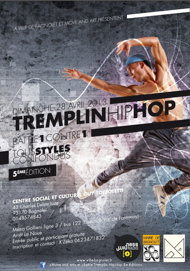 Affiche Tremplin HIP HOP 5